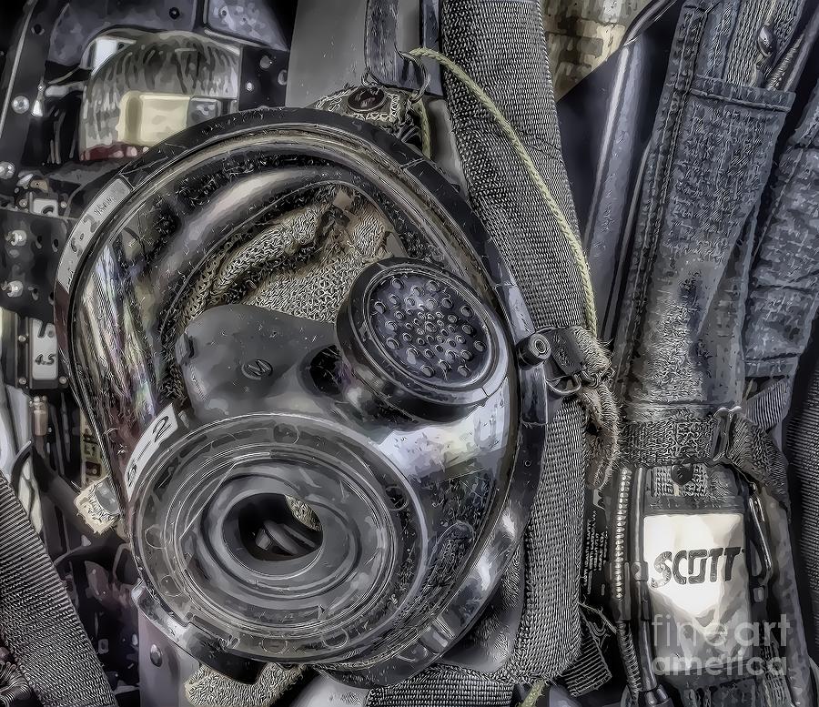 Scott Air Pack Photograph - American Heros Mask by Jim Lepard
