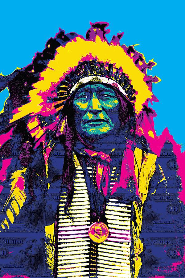 American Indian Chief Digital Art by Gary Grayson