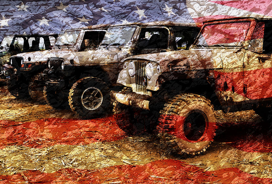 Jeep Photograph - American Jeeps by Luke Moore