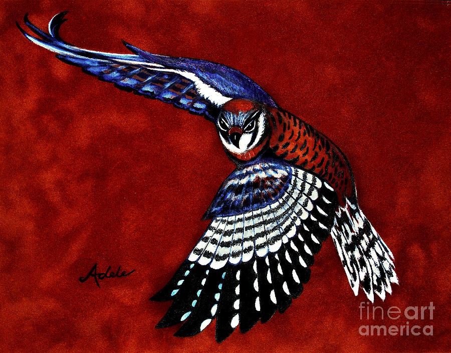 Kestrel Painting - American Kestrel by Adele Moscaritolo