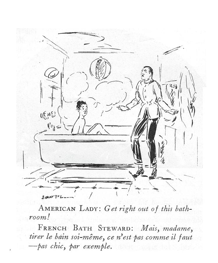Get Right Out Of This Bathroom Drawing by Ethel Plummer