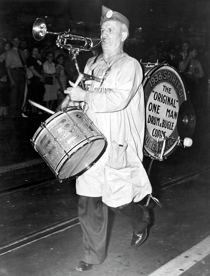 American Legion One Man Band by Underwood Archives
