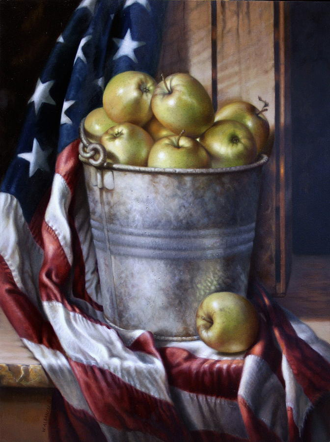 Apples Painting - American Pie by William Albanese Sr