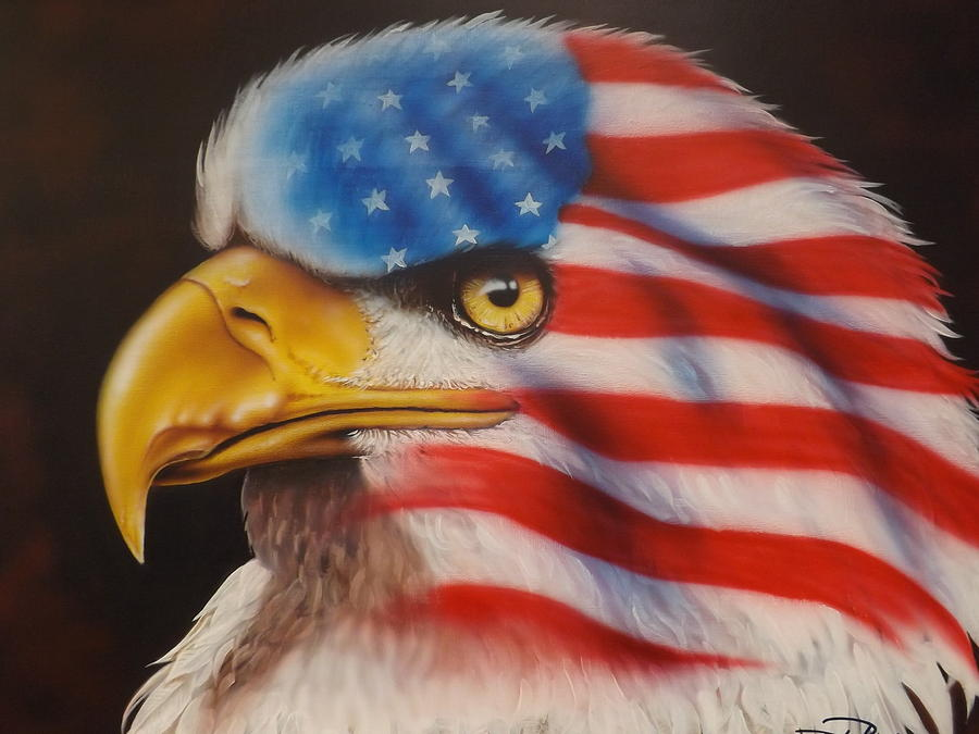 Eagle Painting - American Pride by Darren Robinson