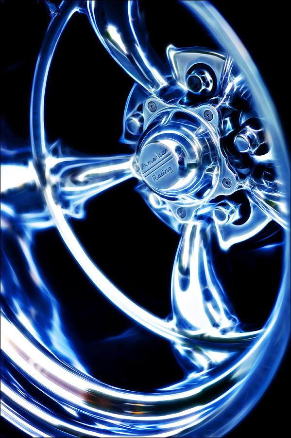 Custom Wheel Photograph - American Racing by Phil motography Clark