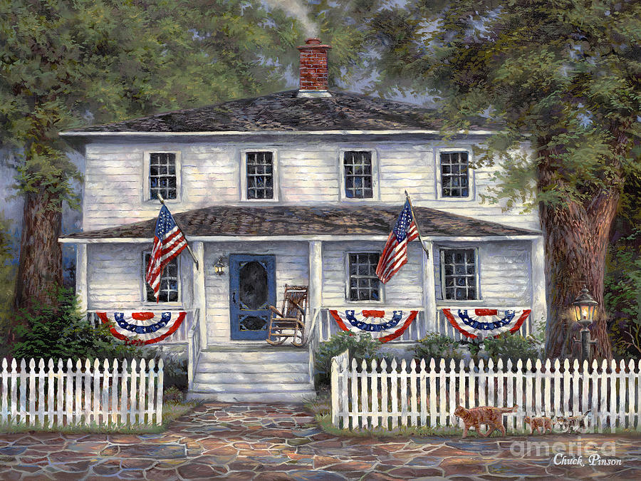 Partriotic Painting - American Roots by Chuck Pinson