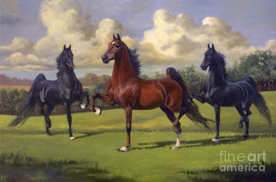 American Saddlebred Stallions Painting