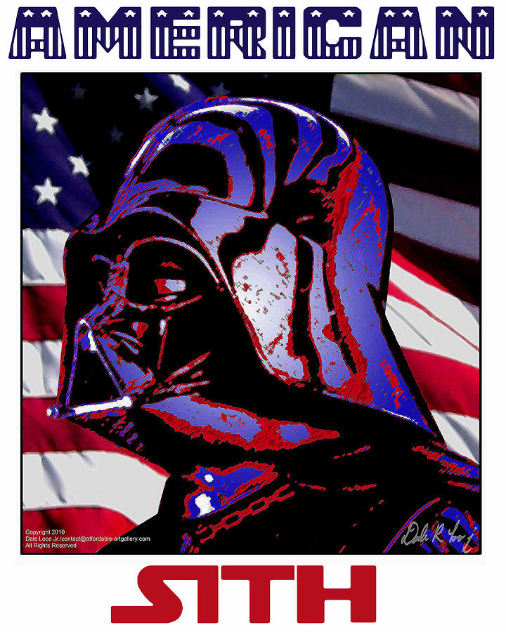 Star Wars Digital Art - American Sith by Dale Loos Jr