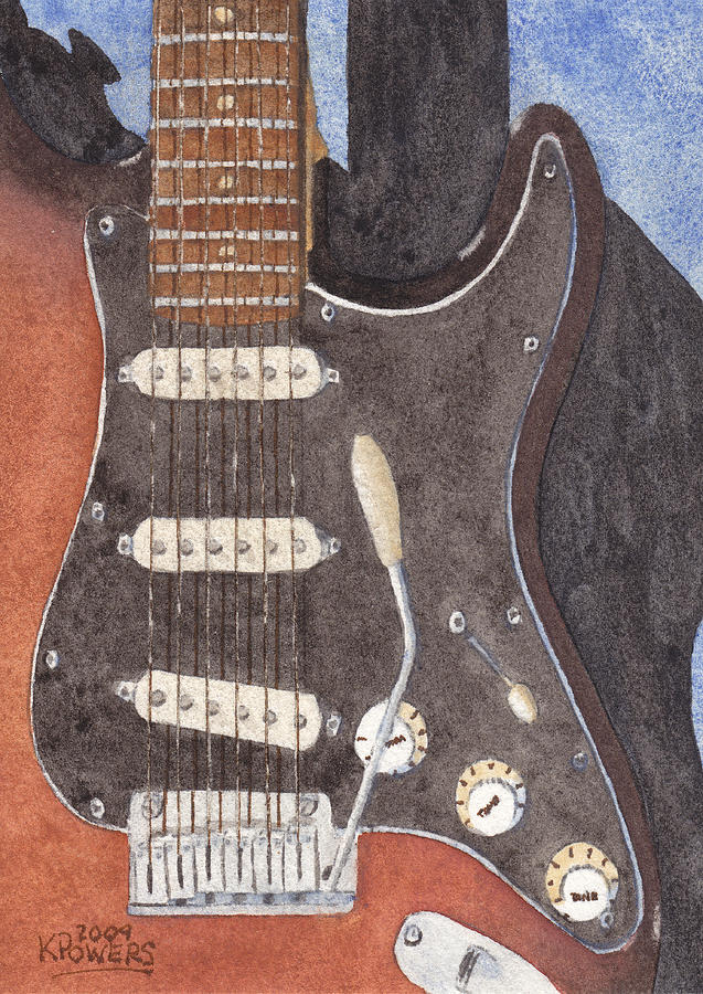 Guitar Painting - American Standard Two by Ken Powers