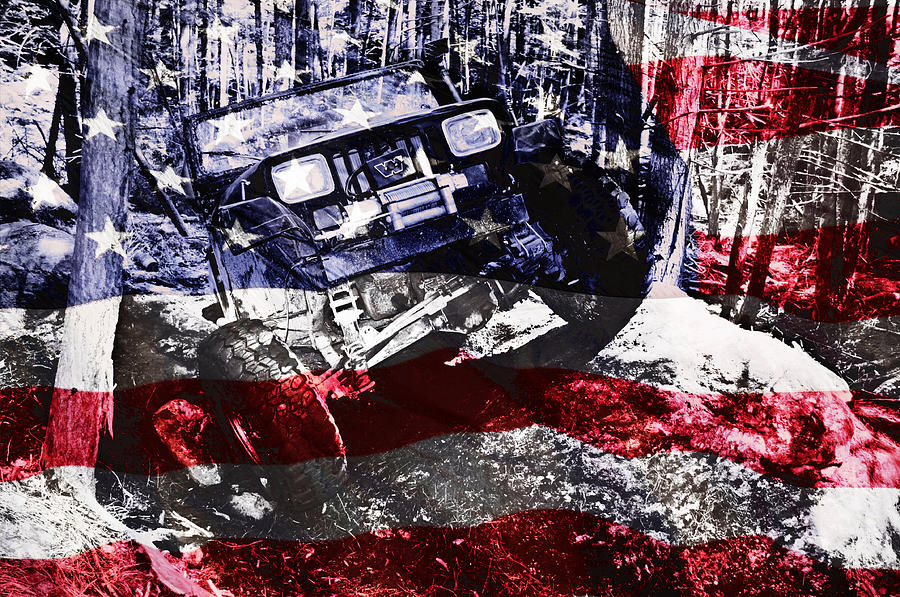 Jeep Photograph - American Wrangler by Luke Moore