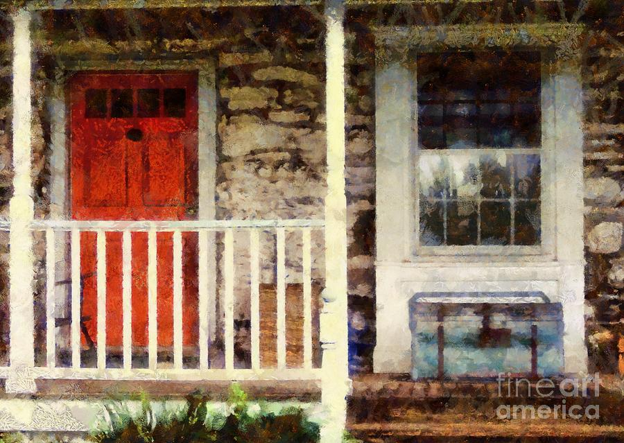 Red White And Blue Photograph - Americana by Janine Riley