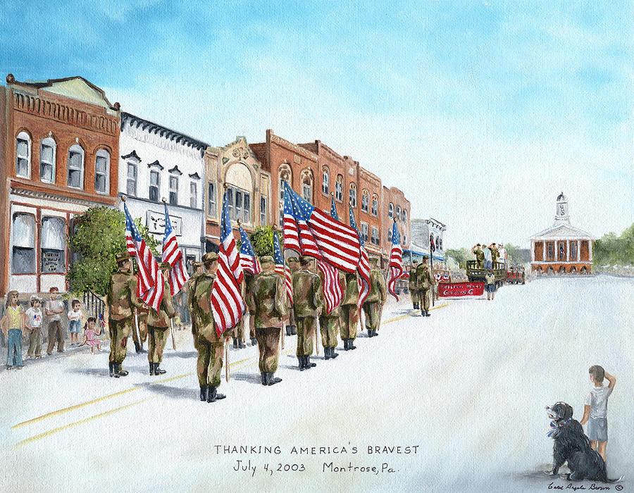 Soldier Painting - Americas Brave by Carol Angela Brown