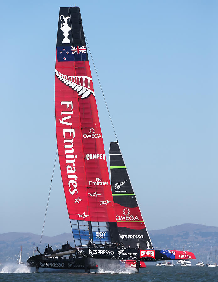 America's Cup Photograph - Americas Cup Emirates Team New Zealand by Steven Lapkin