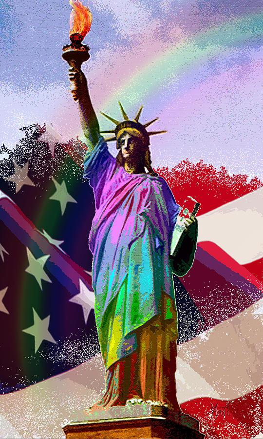 Americas Statue Of Liberty Digital Art
