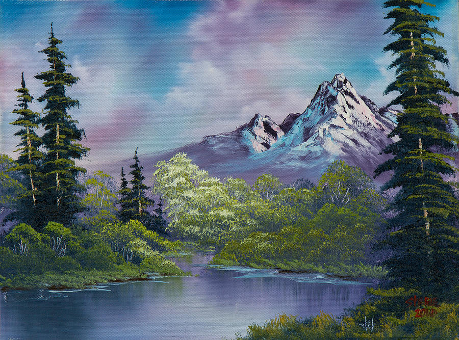 Landscape Painting - Amethyst Evening by C Steele