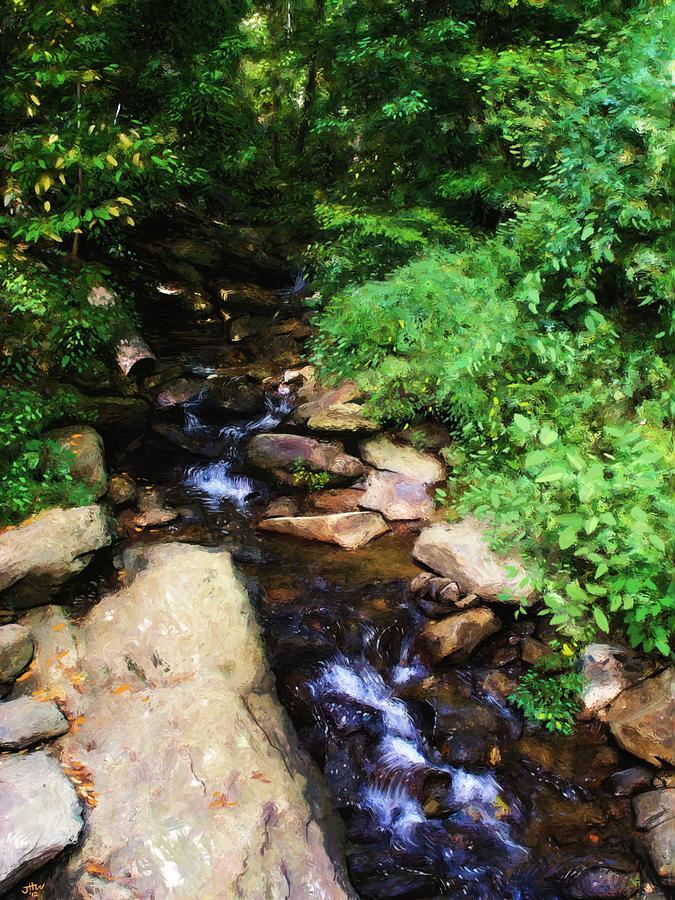 Landscape Painting - Amicalola Falls by Jennifer Hotai