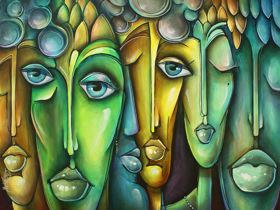 Figurative Painting - amicis by Michael Lang
