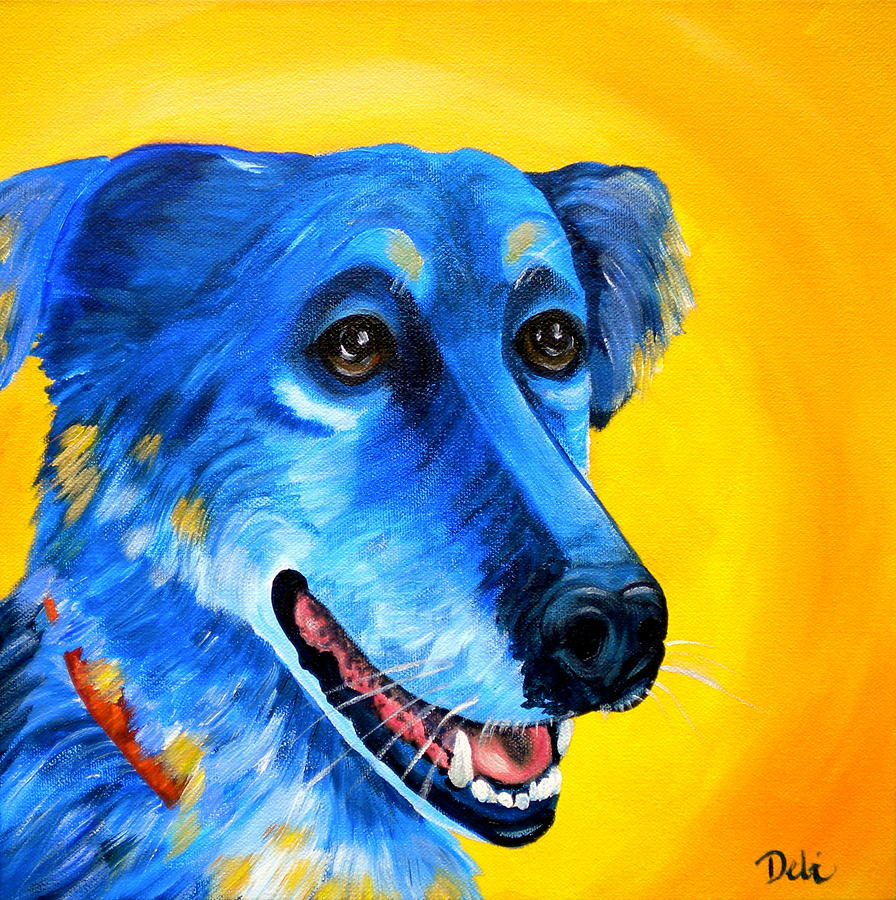 Dog Portrait Painting - Amigo by Debi Starr