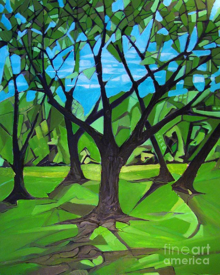 Lilly Painting - Amigos - Trees Botanicals by Grace Liberator