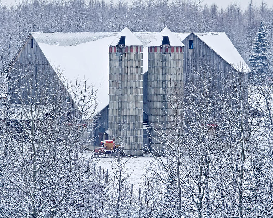 Barn Photograph - Amish Barn by Jack Zievis
