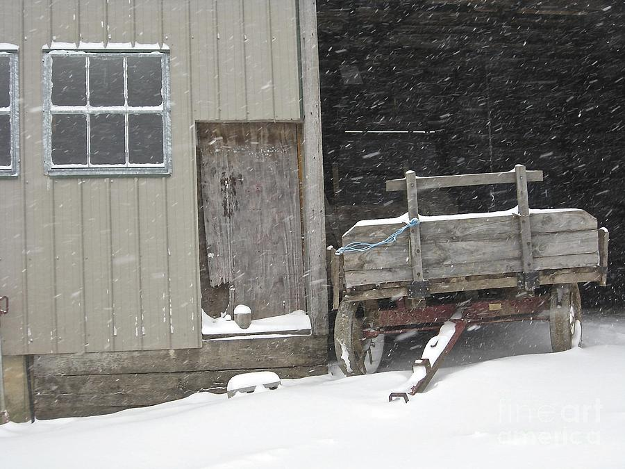 Amish Photograph - Amish Snowfall by Lori Amway