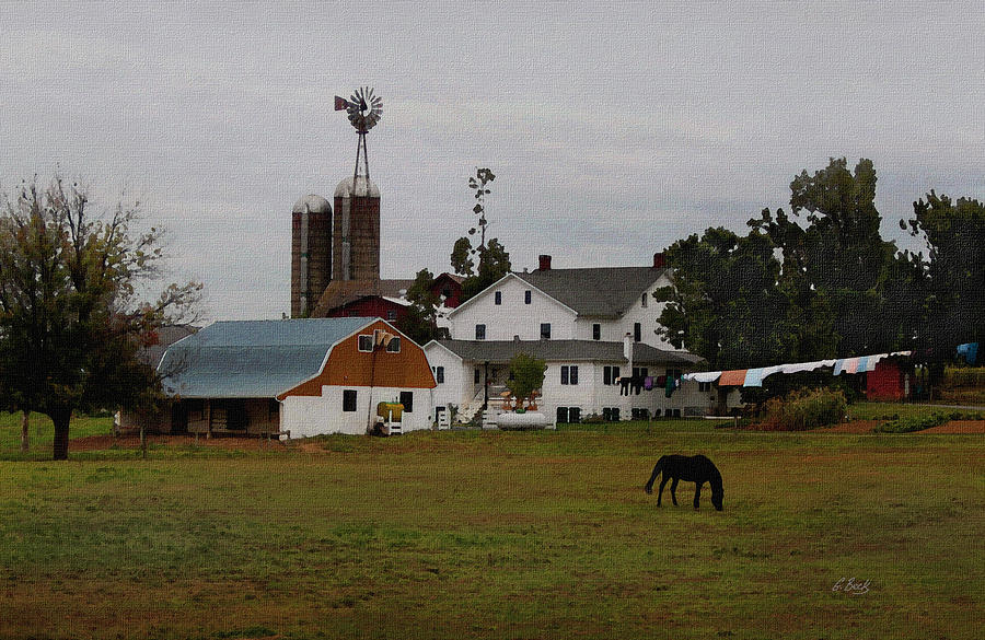 Overcast Photograph - Amish Wash Day by Gordon Beck