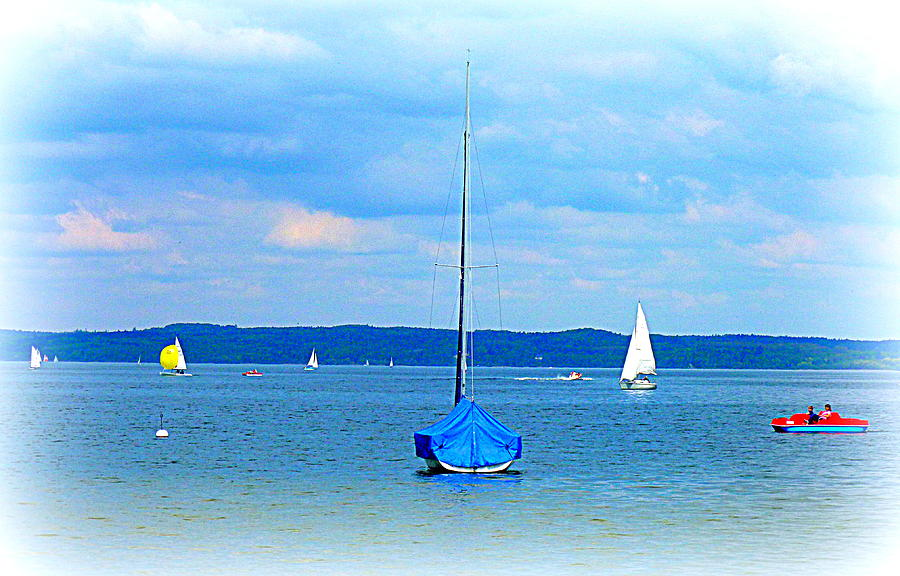 Ammersee Photograph - Ammersee Boats by The Creative Minds Art and Photography