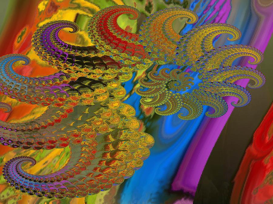 Ammonite Digital Art - Ammonite 4 by Soumya Bouchachi