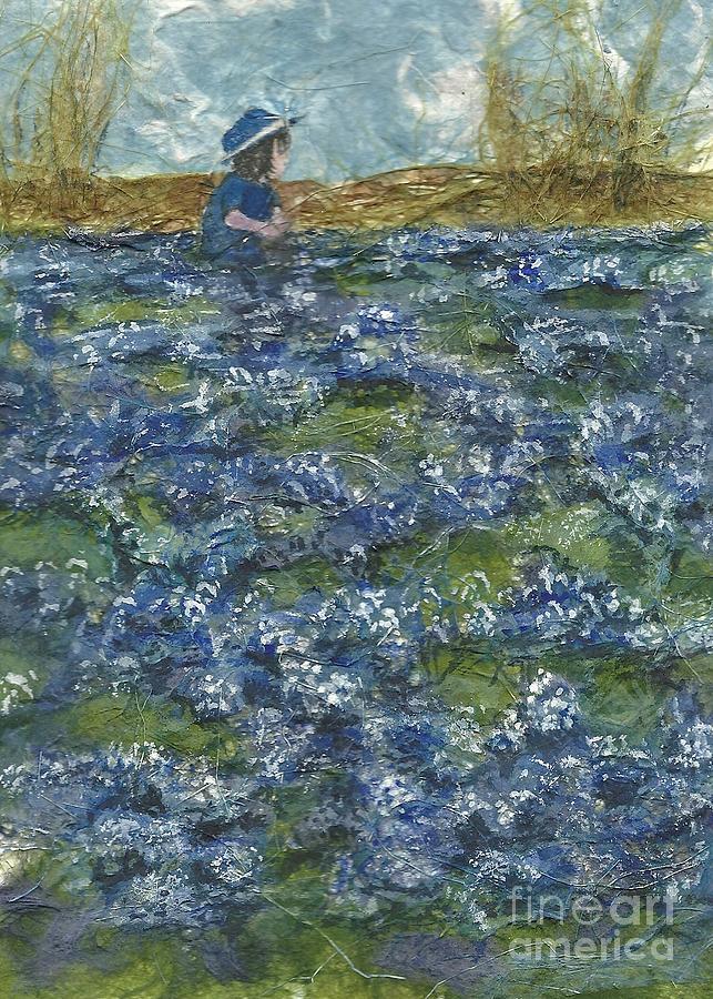 Blue Bonnets Painting - Among The Blue Bonnets by Lynn Babineau