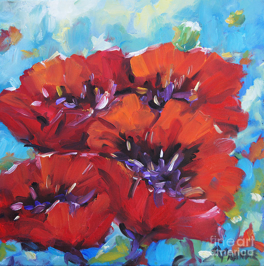 Canadian Floral Scene Created By Richard T Pranke Painting - Amore By Prankearts by Richard T Pranke