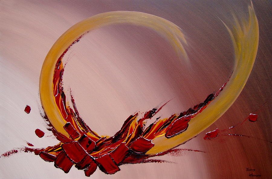 Abstract Painting - Amour Fou by Thierry Vobmann