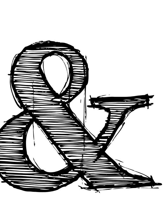 Motivational Digital Art - Ampersand Poster 1 by Naxart Studio