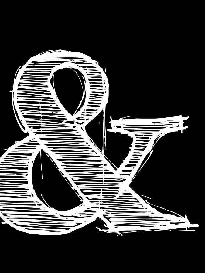 Motivational Digital Art - Ampersand Poster 2 by Naxart Studio