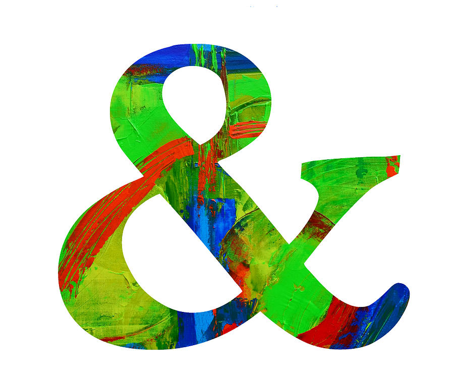 Ampersand Symbol Art No  4 by Patricia Awapara