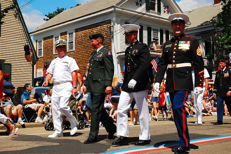 Bristol Photograph - Amred Forces Salute by James Kirkikis