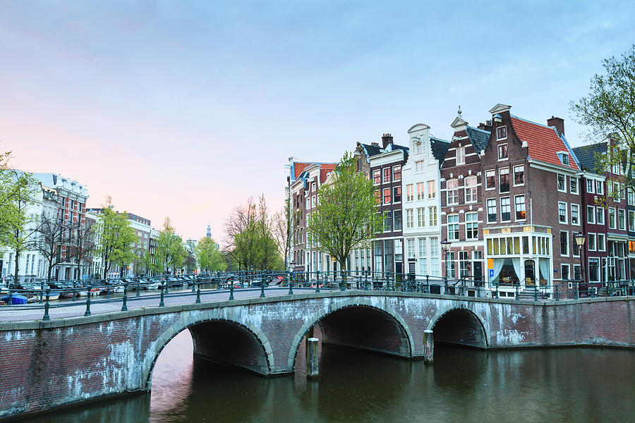 Amsterdam At Dusk Photograph by Fraser Hall