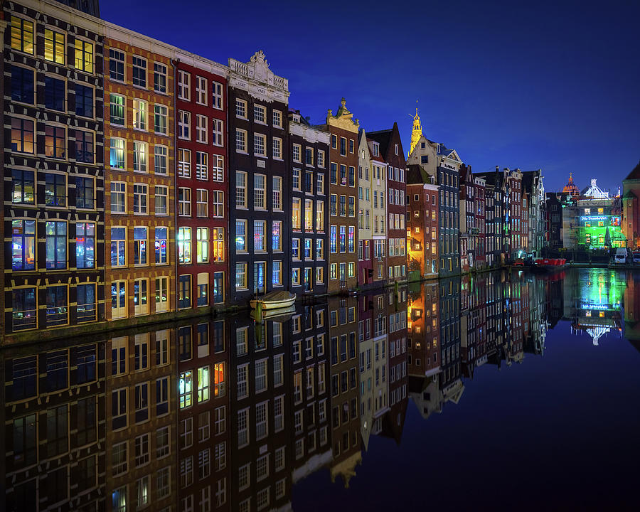 Holland Photograph - Amsterdam At Night 2017 by Juan Pablo De