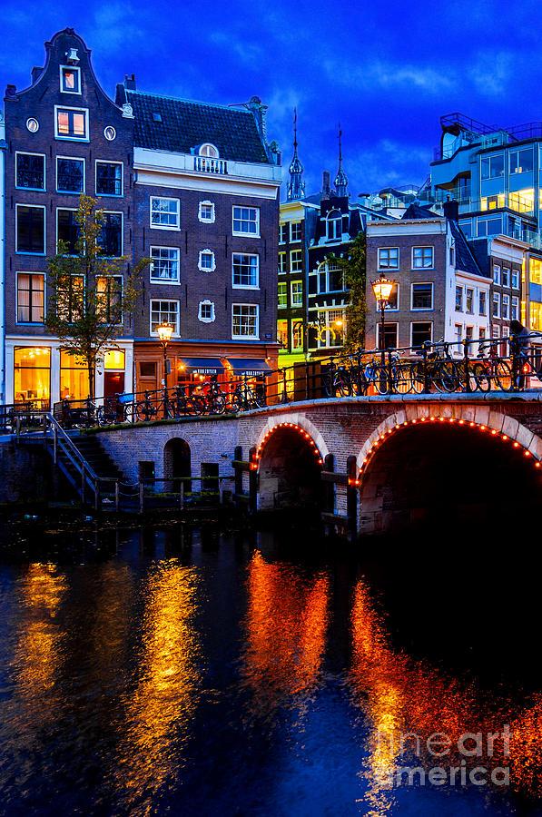 Amsterdam Photograph - Amsterdam At Night II by Lilianna Sokolowska