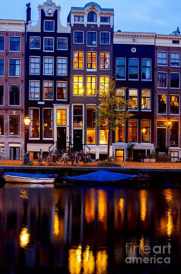 Amsterdam Photograph - Amsterdam At Night IIi by Lilianna Sokolowska
