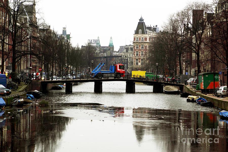 Amsterdam Canal Photograph - Amsterdam Canal by John Rizzuto