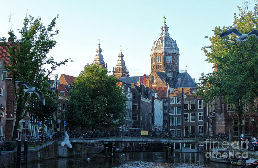 Amsterdam Photograph - Amsterdam Canal View - 02 by Gregory Dyer