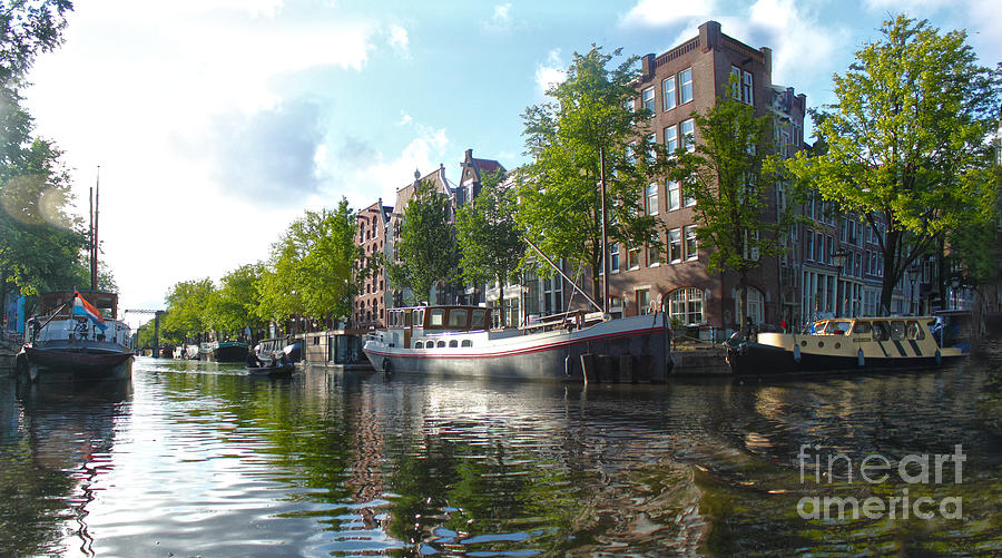Amsterdam Photograph - Amsterdam Canal View - 03 by Gregory Dyer