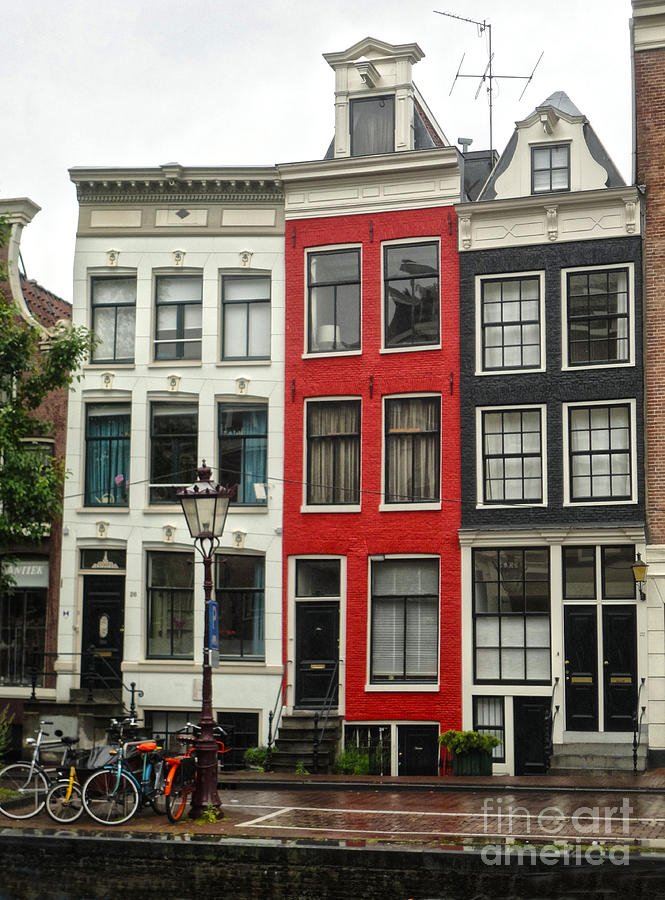 Amsterdam Photograph - Amsterdam  Crooked Houses by Gregory Dyer