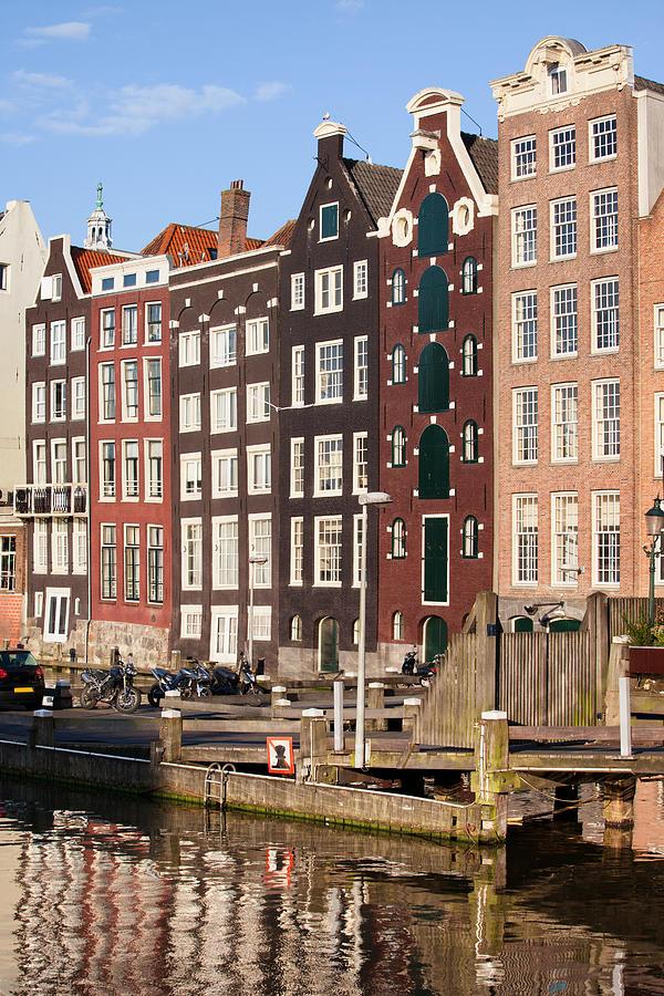 Amsterdam Photograph - Amsterdam Houses Ar Sunset by Artur Bogacki