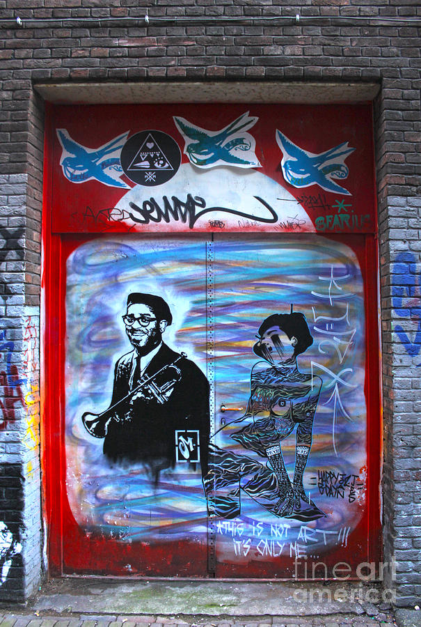 Amsterdam Painting - Amsterdam Jazz Graffiti by Gregory Dyer