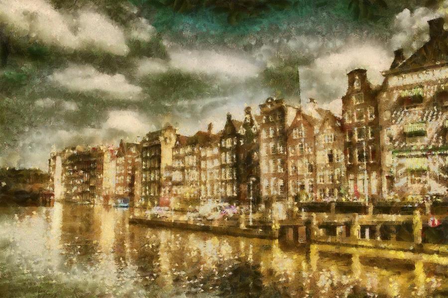 Pintura Digital Photograph - Amsterdam by Jose Maqueda