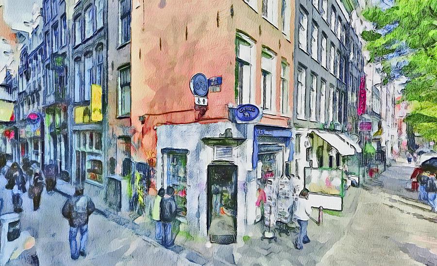 Amsterdam Digital Art - Amsterdam Streets 3 by Yury Malkov