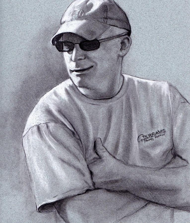 Charcoal Drawing - Amused by Joyce Geleynse