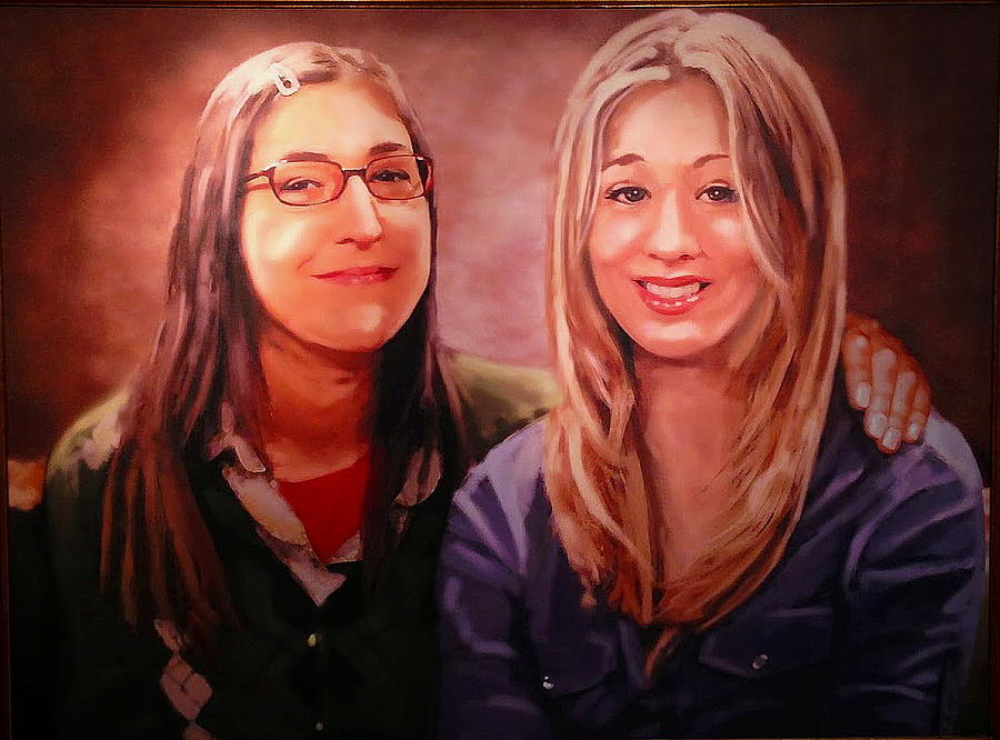 Amy And Penny Painting By Paul Van Scott