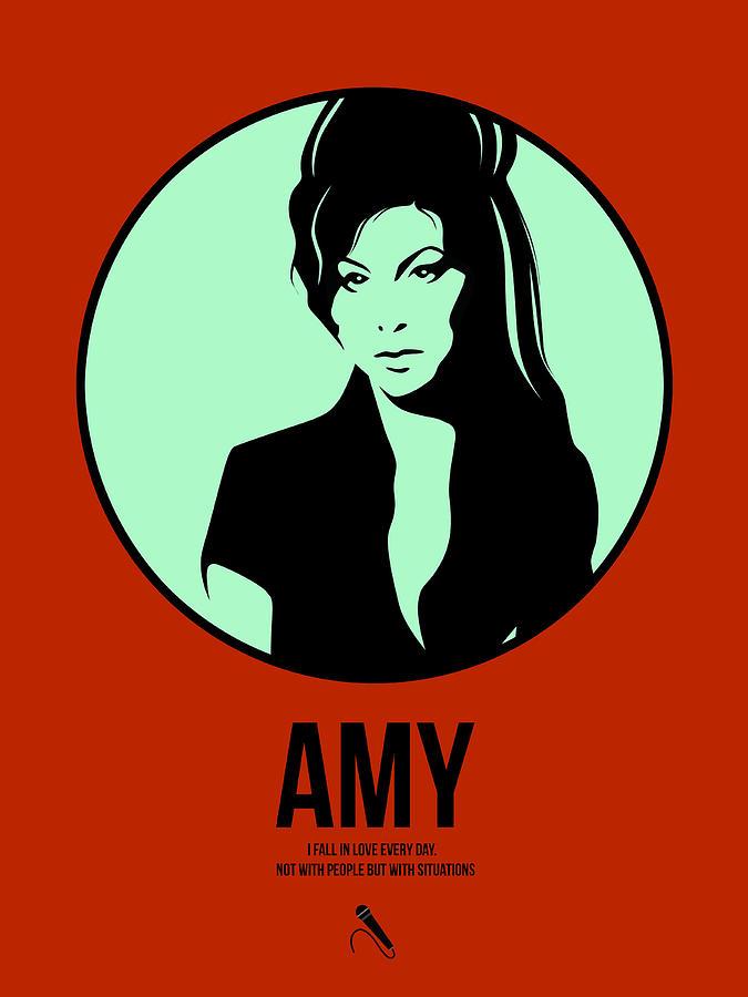 Music Digital Art - Amy Poster 1 by Naxart Studio